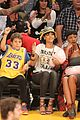 rihanna bff melissa forde hold hands at lakers game 01