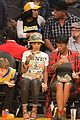 rihanna bff melissa forde hold hands at lakers game 14