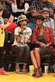rihanna bff melissa forde hold hands at lakers game 22