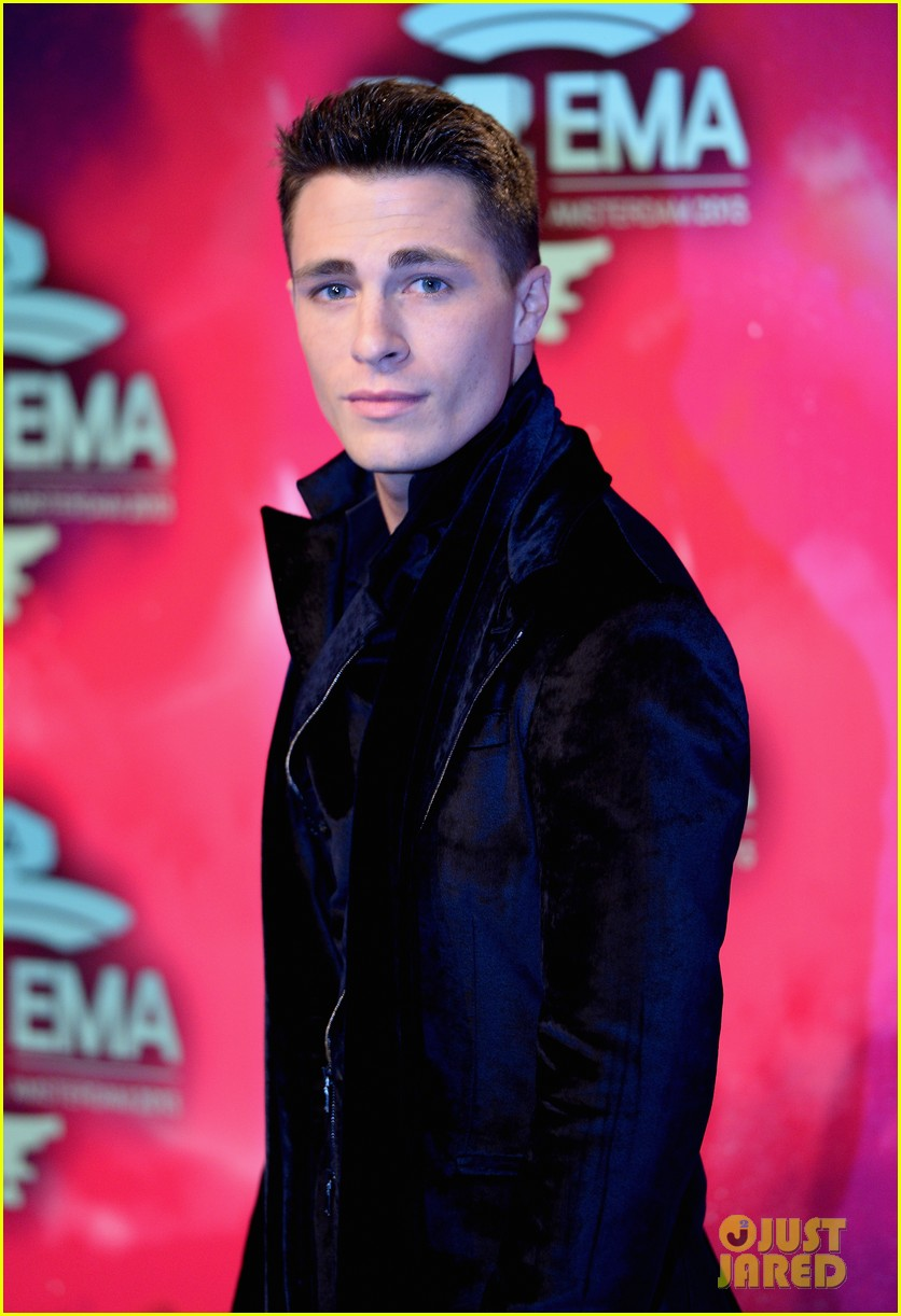 louise roe colton haynes mtv ema 2013 red carpet 022989947