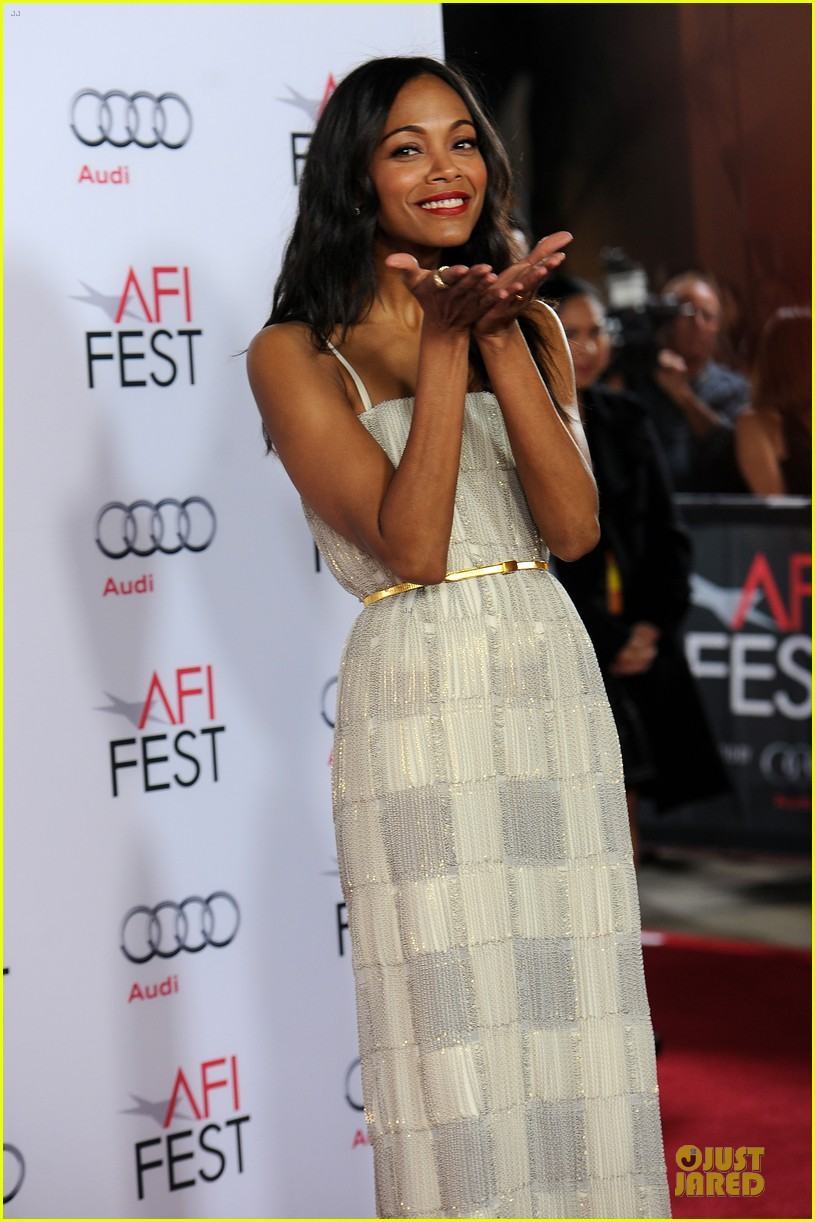 zoe saldana out of the furnace hollywood screening 022989453