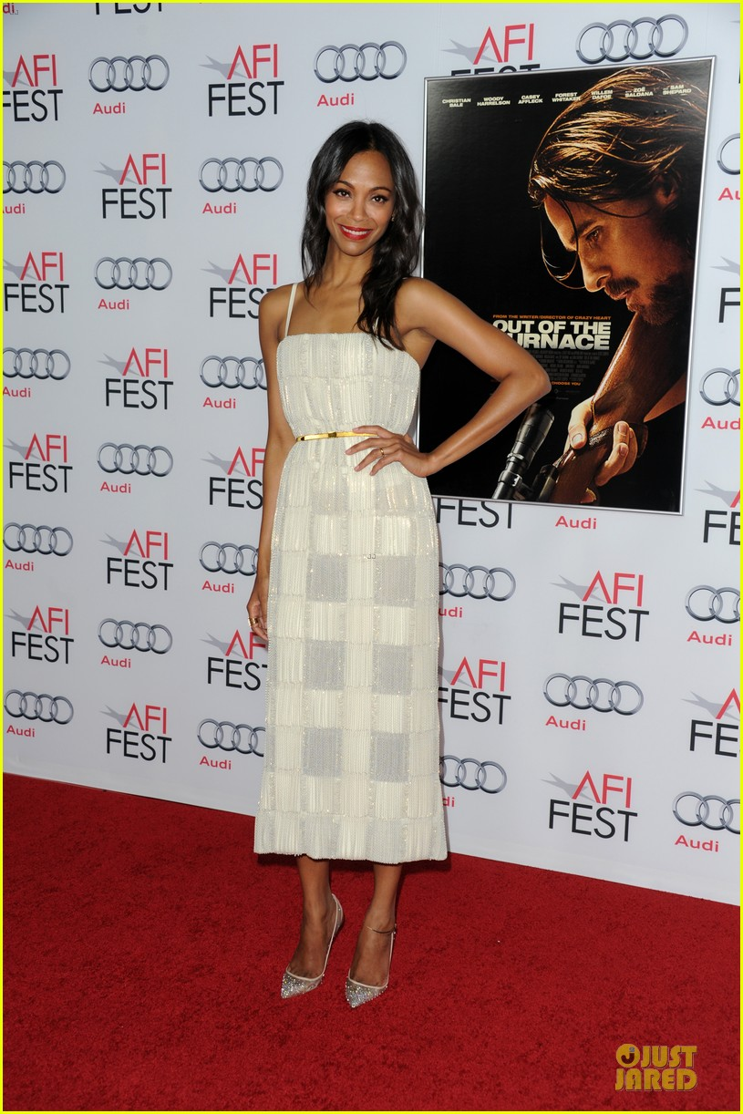 zoe saldana out of the furnace hollywood screening 072989458