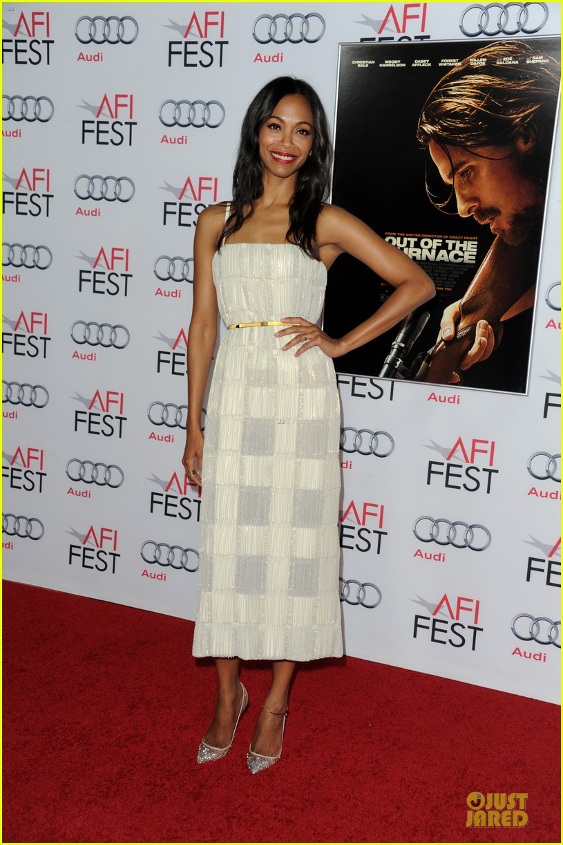 zoe saldana out of the furnace hollywood screening 122989463