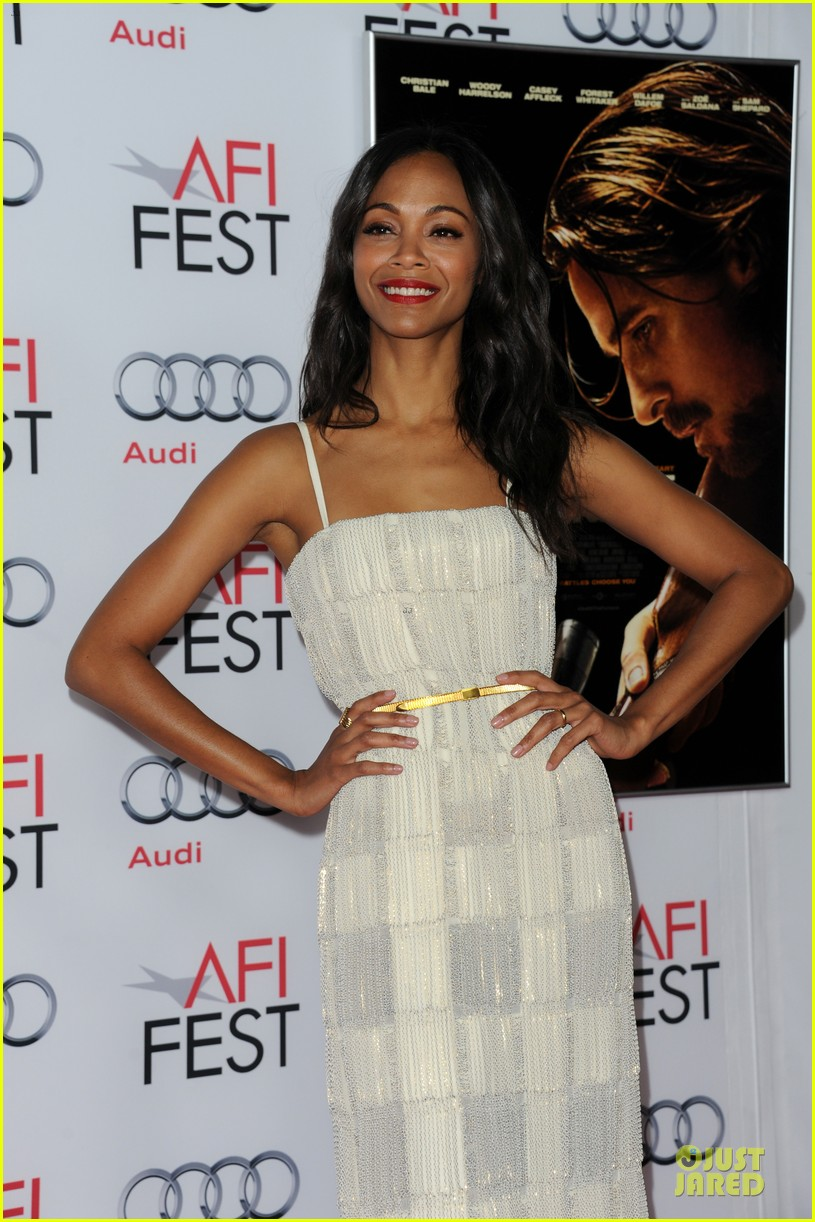 zoe saldana out of the furnace hollywood screening 19