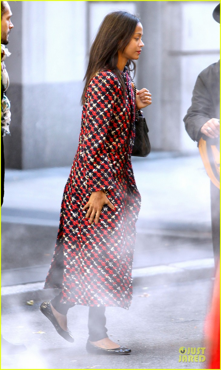 zoe saldana kisses marco perego after face tattoo flash 032988698
