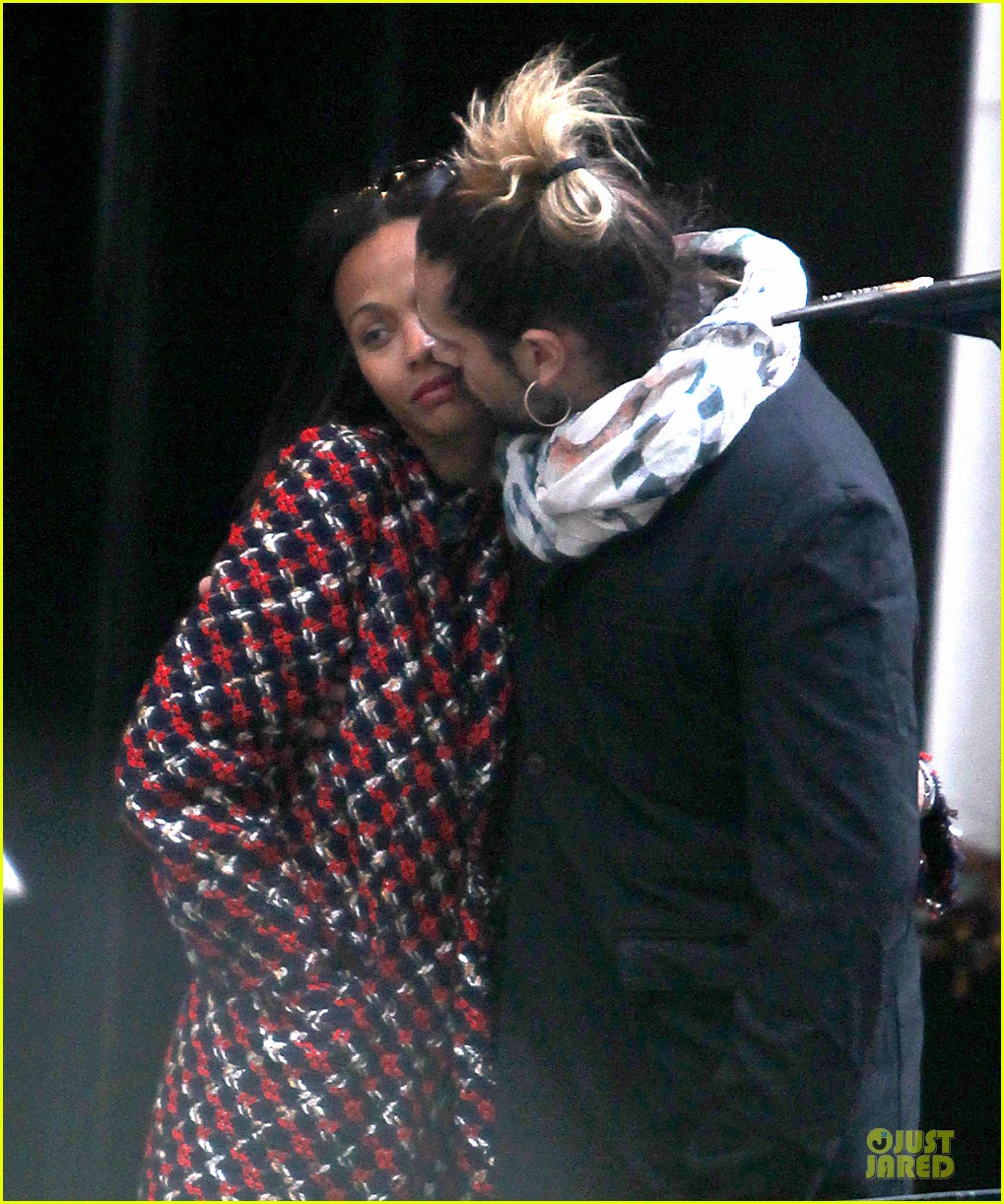 zoe saldana kisses marco perego after face tattoo flash 042988699