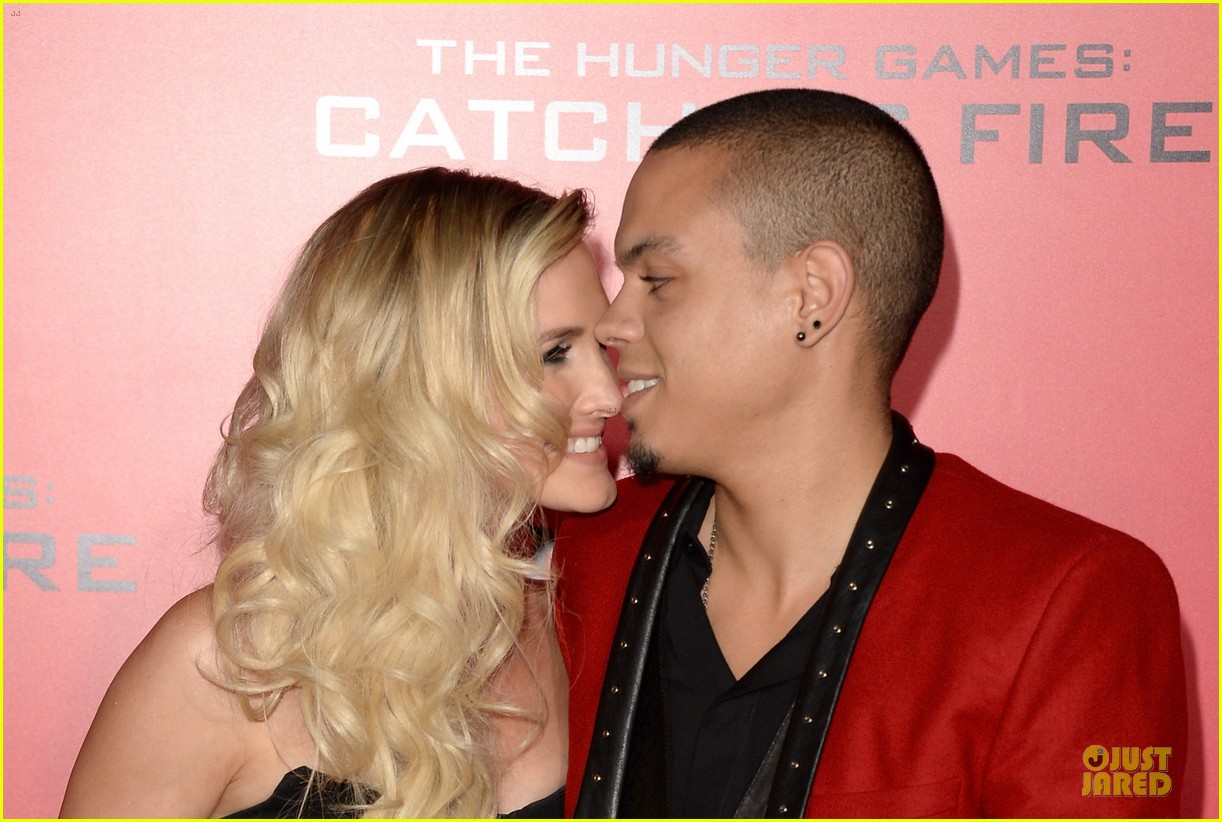 ashlee simpson evan ross catching fire la premiere 022995733