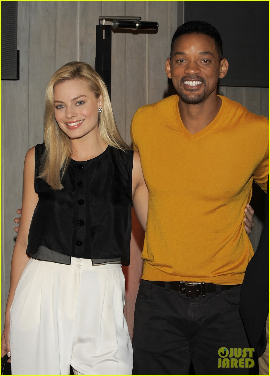 will smith margot robbie focus press conference in argentina 012997055