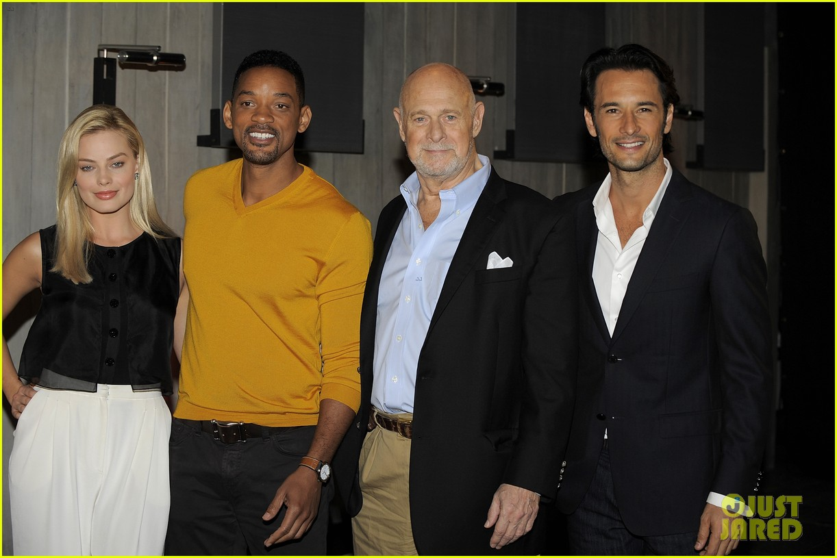 will smith margot robbie focus press conference in argentina 032997057