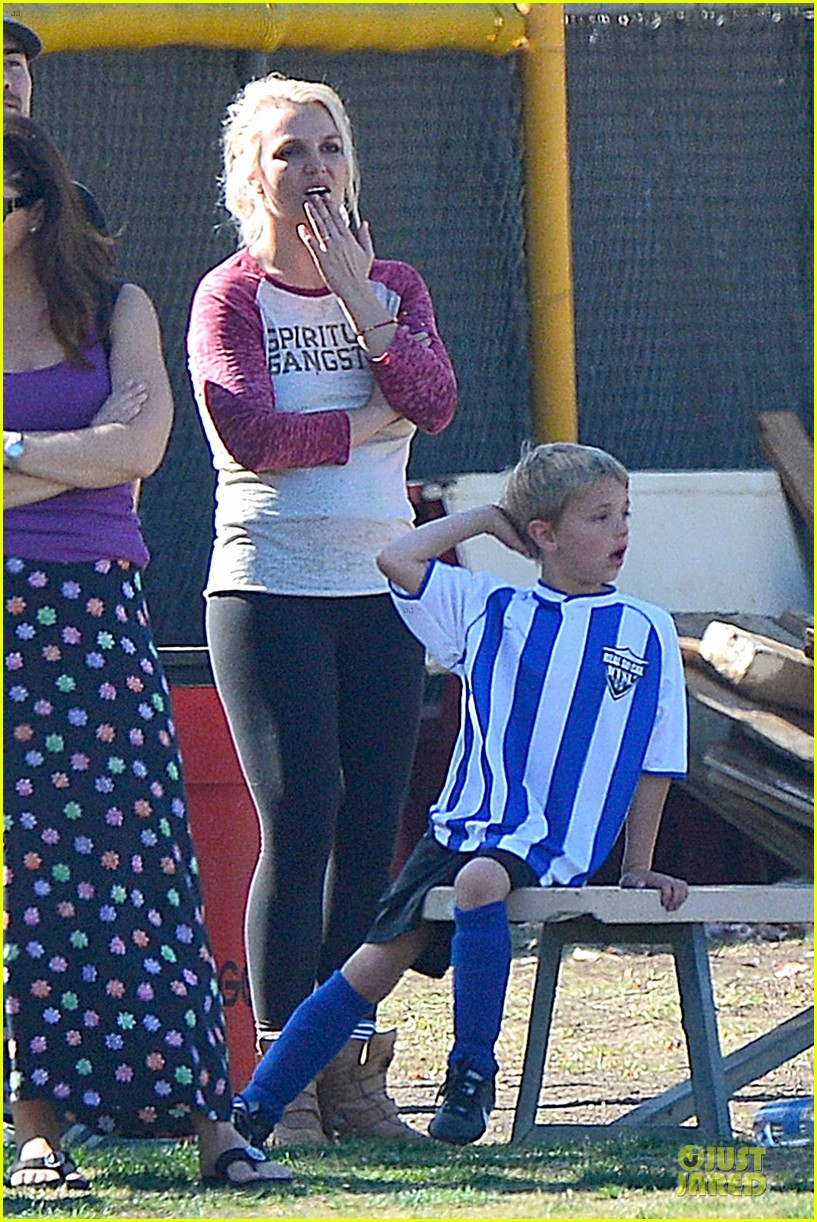 britney spears david lucado soccer game with kevin federline 312989171