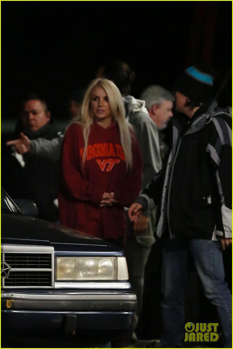 britney spears wears virginia tech sweatshirt shoots fun for music video 072997134