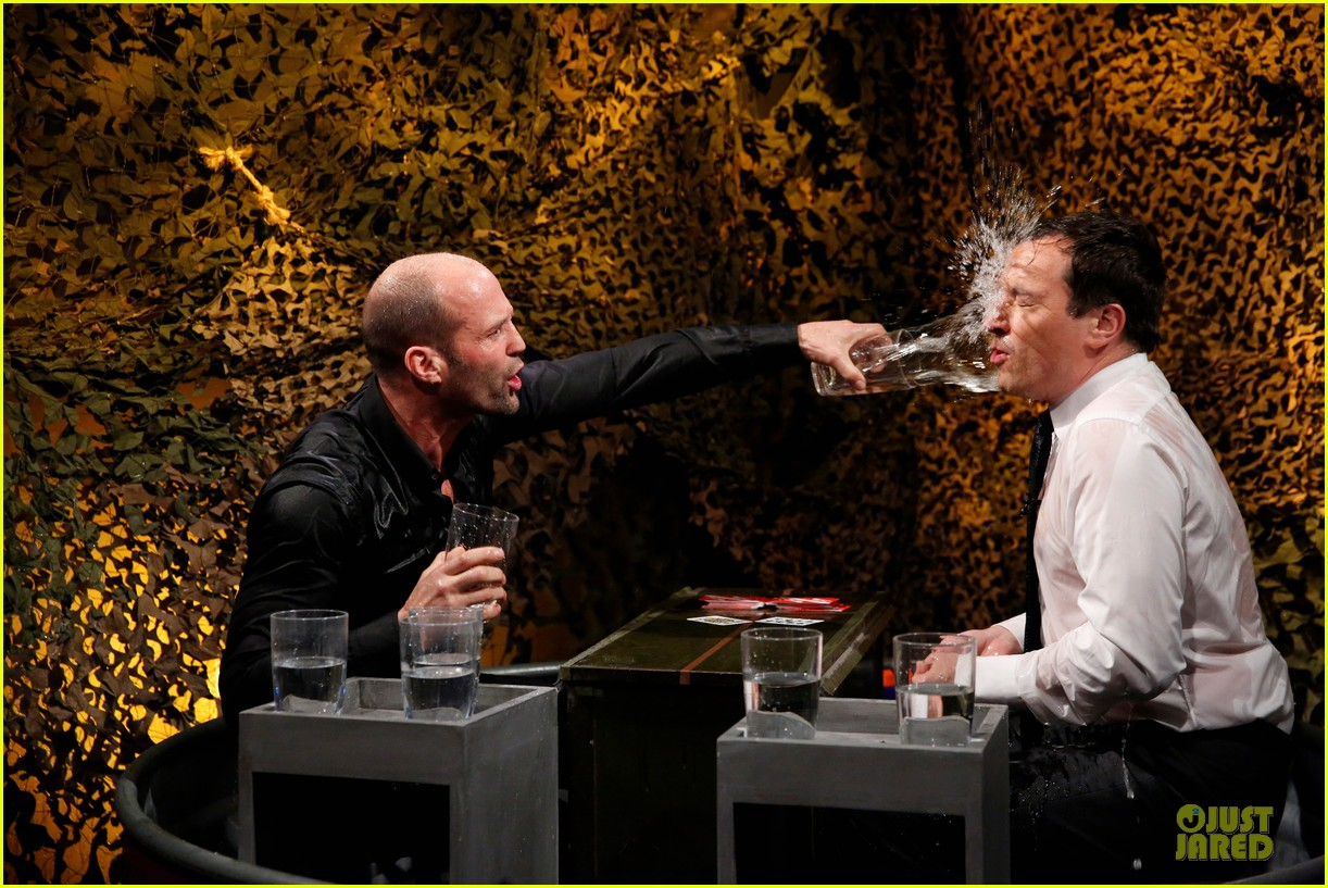 jason statham plays water wars on fallon 022987370