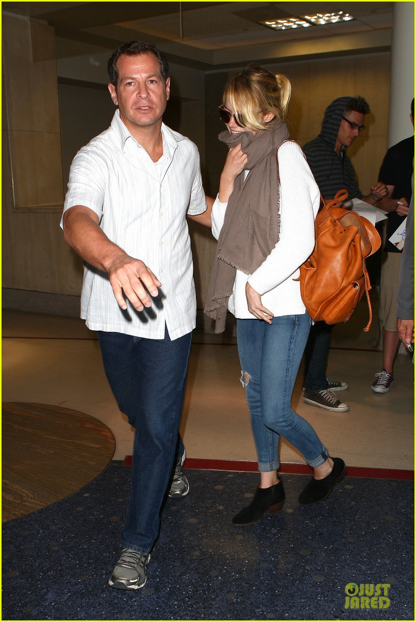 emma stone lands in lax airport after quiet few months 032993866