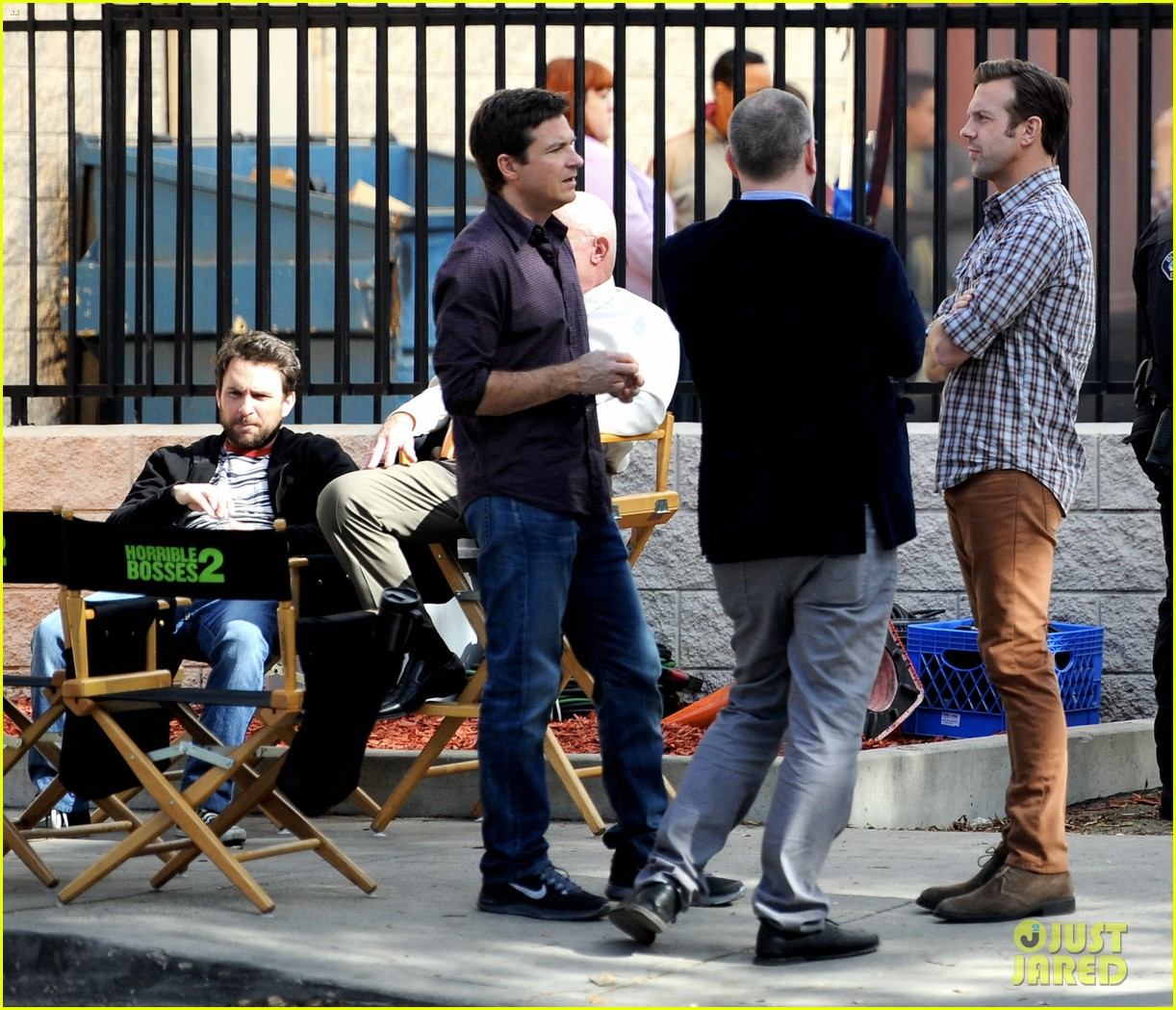 jason sudeikis jason bateman work on horrible bosses 2 03