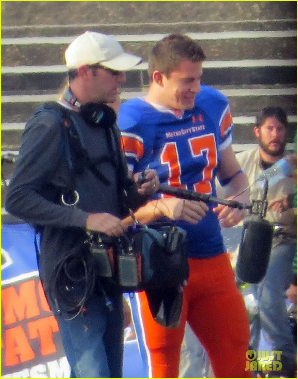 channing tatum filming 22 jump street football game 192991673