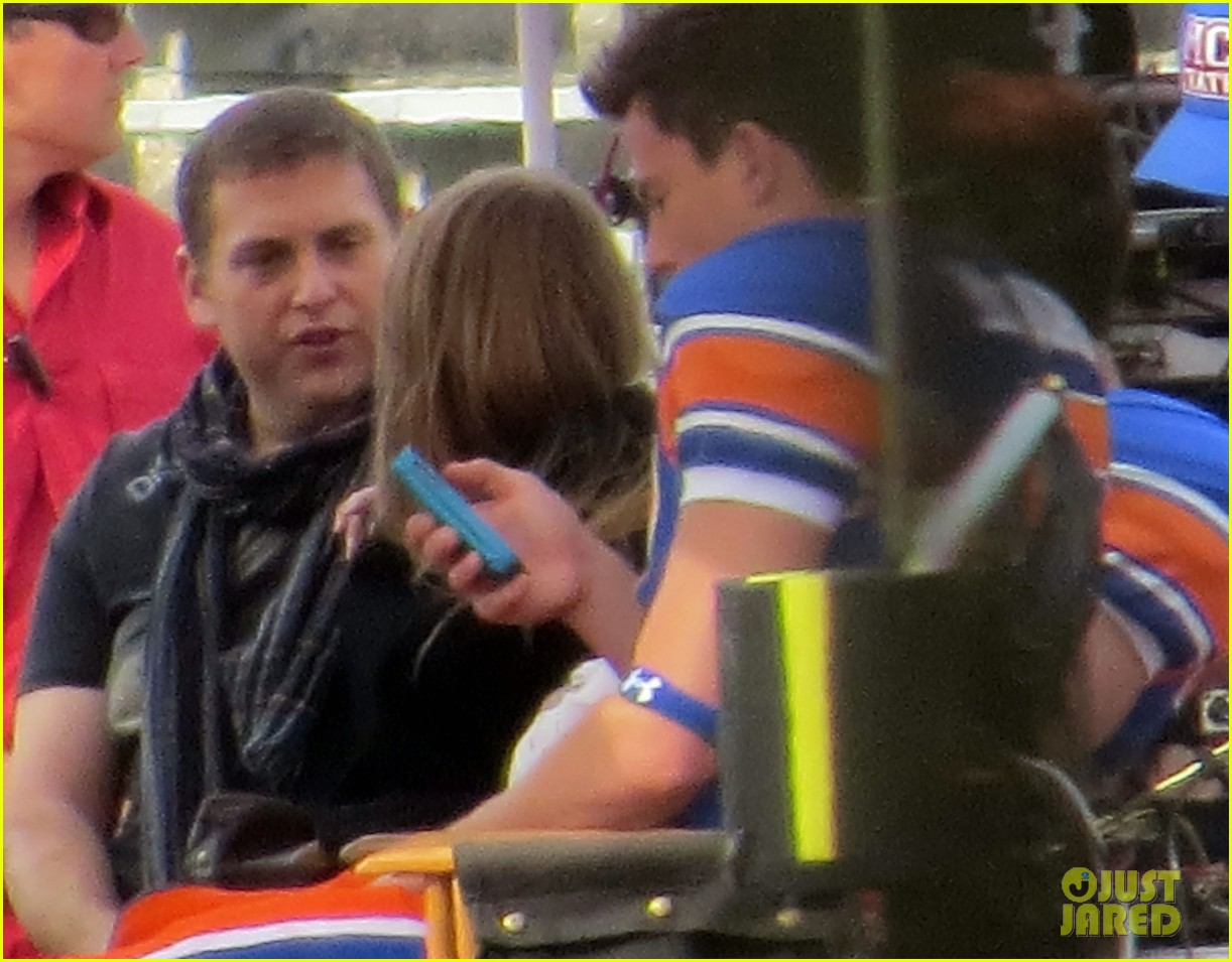 channing tatum filming 22 jump street football game 342991688