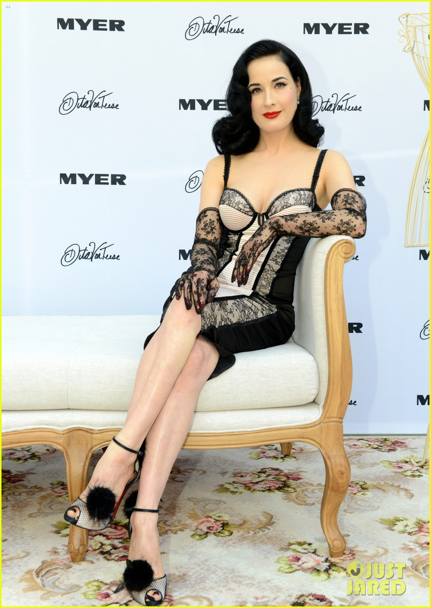 dita von teese debuts new lingerie collection in melbourne 102987533