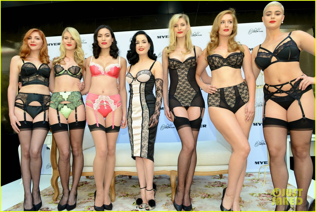 dita von teese debuts new lingerie collection in melbourne 112987534