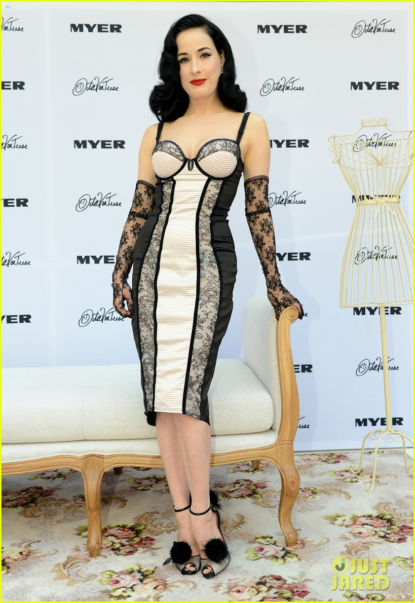 dita von teese debuts new lingerie collection in melbourne 142987537