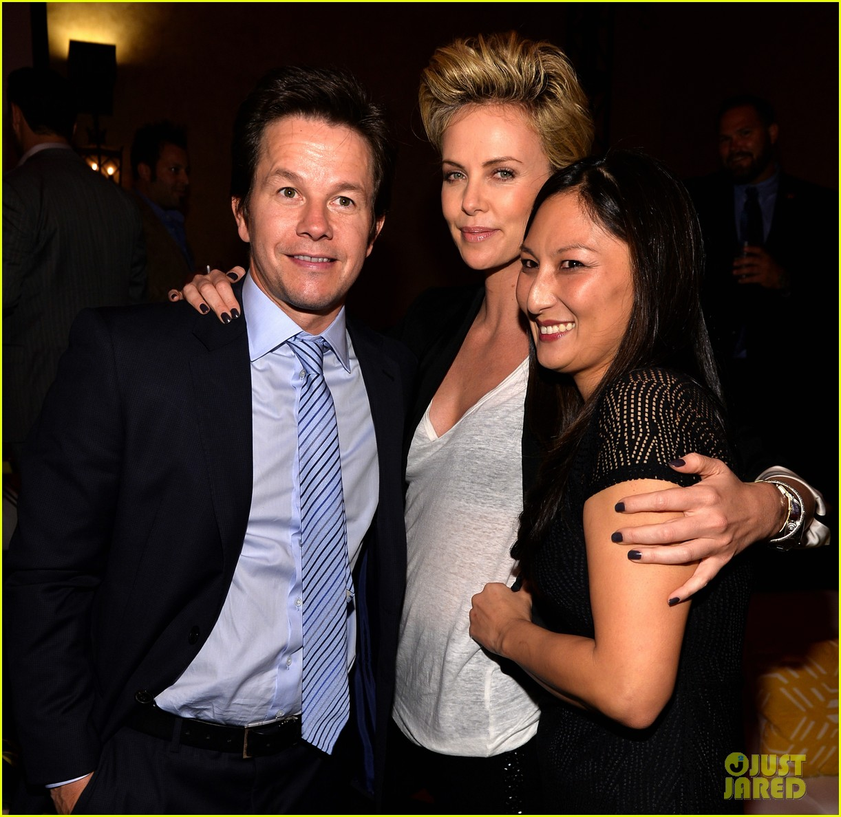 charlize theron mark wahlberg reunite at premiere after party 01