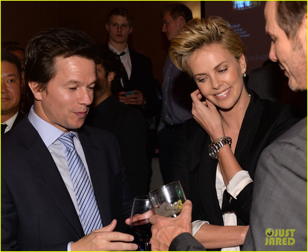 charlize theron mark wahlberg reunite at premiere after party 042991932