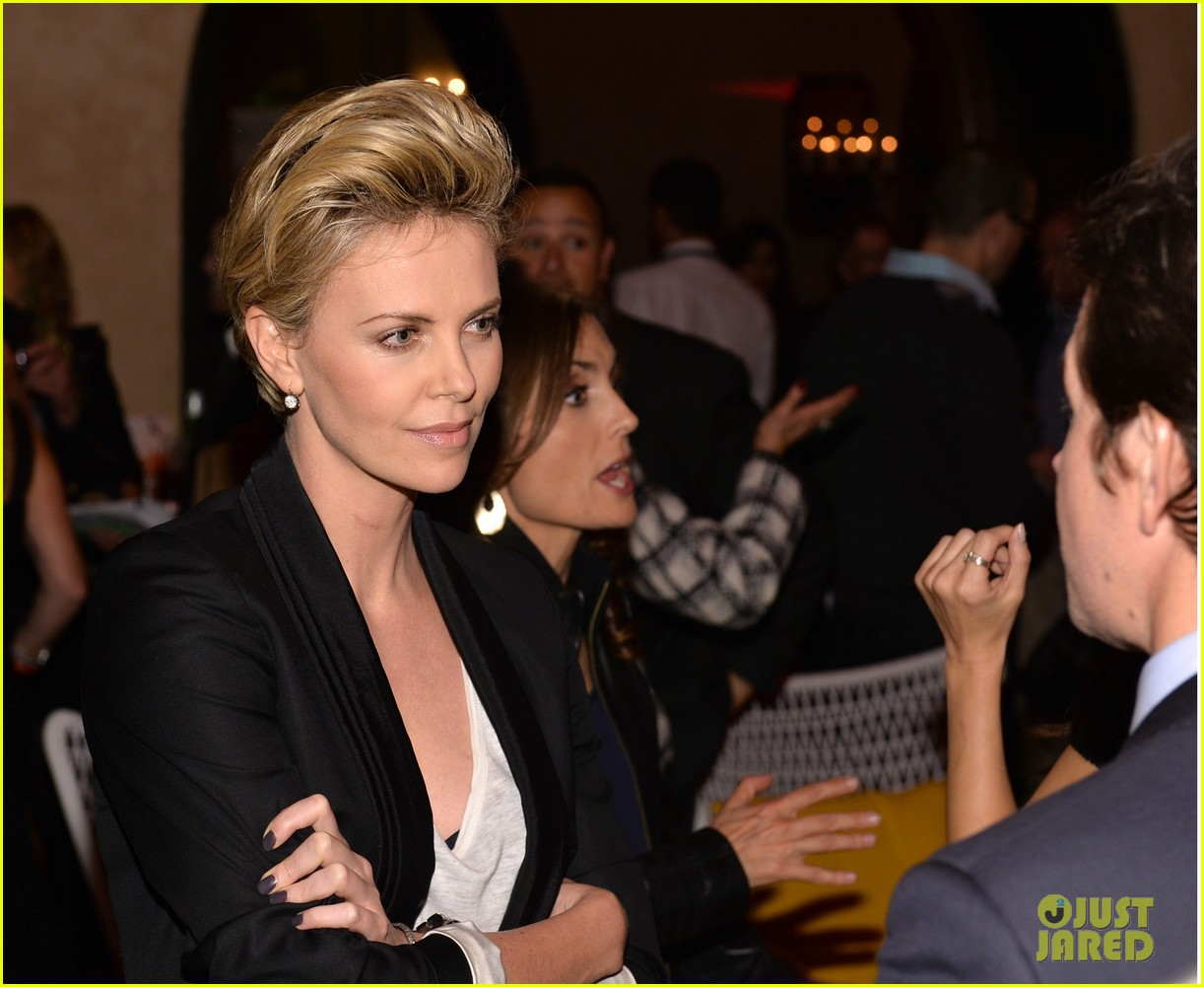 charlize theron mark wahlberg reunite at premiere after party 06