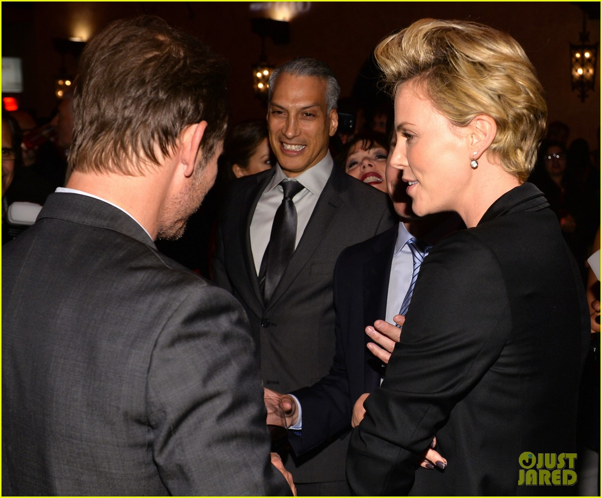 charlize theron mark wahlberg reunite at premiere after party 132991941