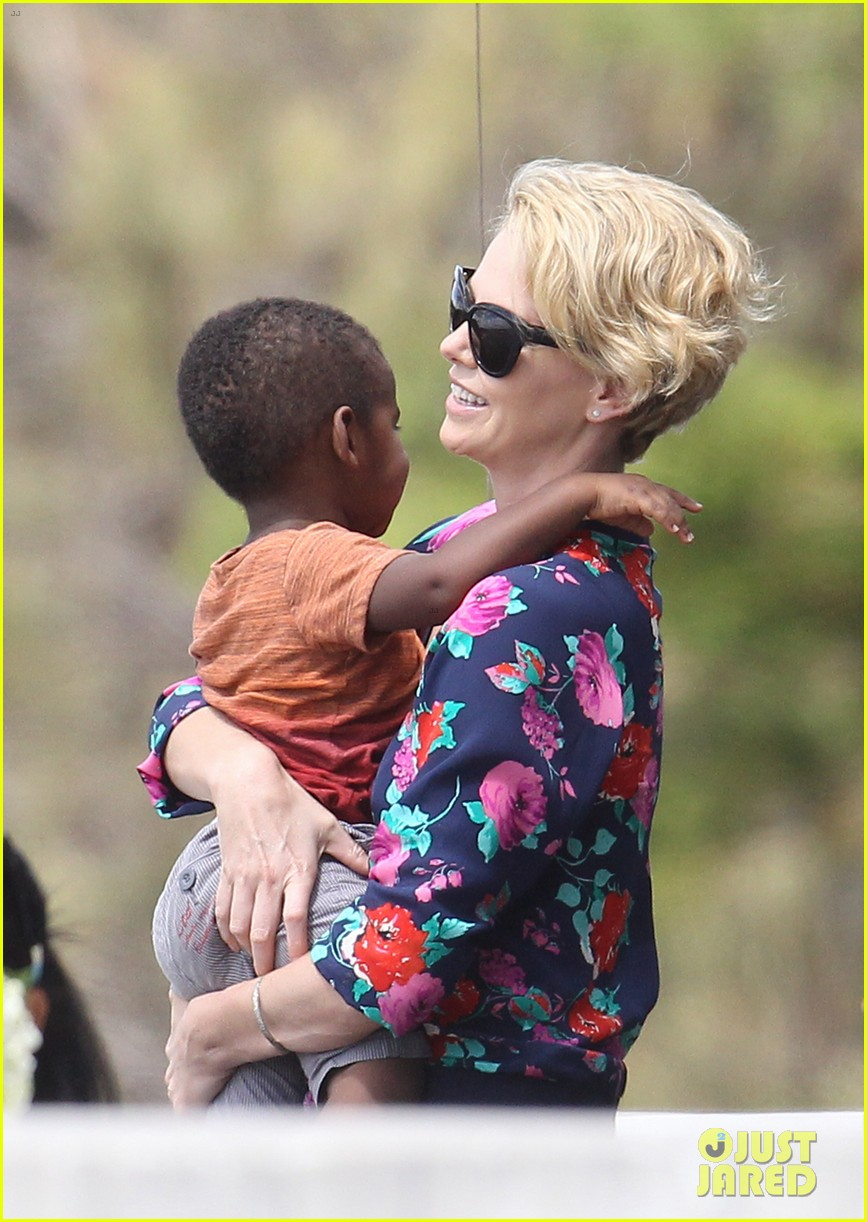 charlize theron sydney outing with her little man jackson 012999862