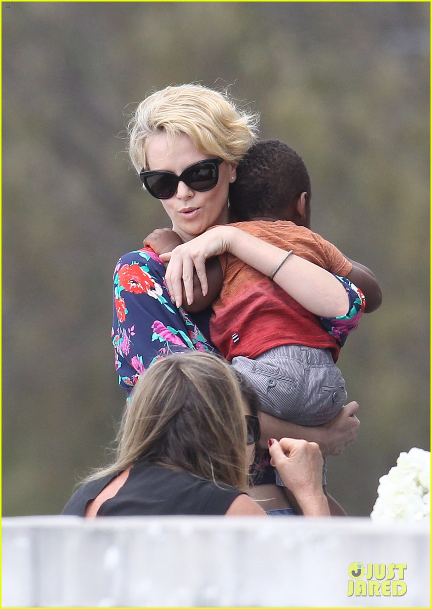 charlize theron sydney outing with her little man jackson 03
