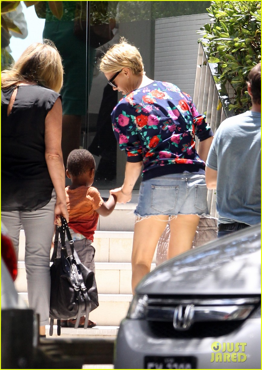 charlize theron sydney outing with her little man jackson 052999866