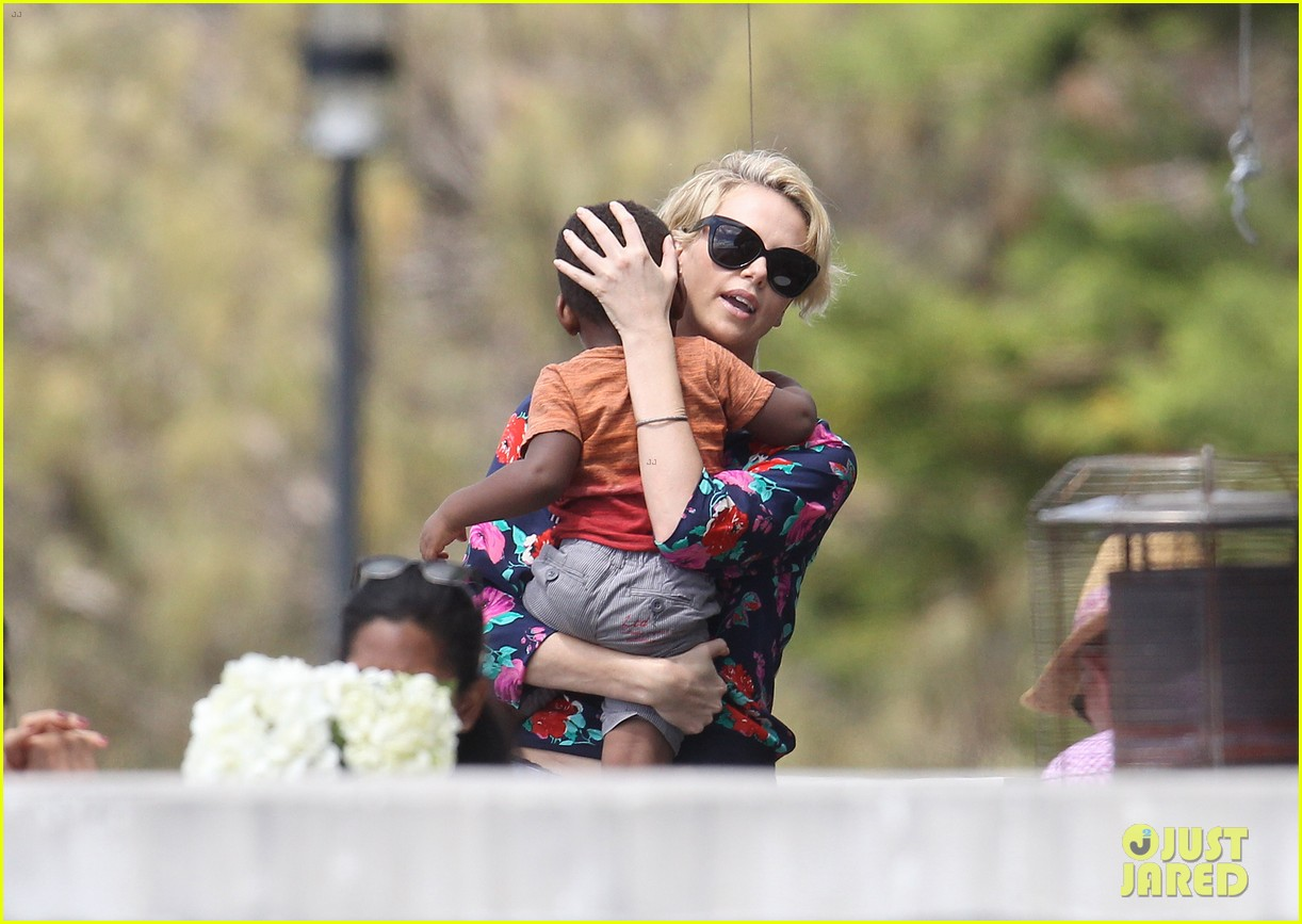 charlize theron sydney outing with her little man jackson 06