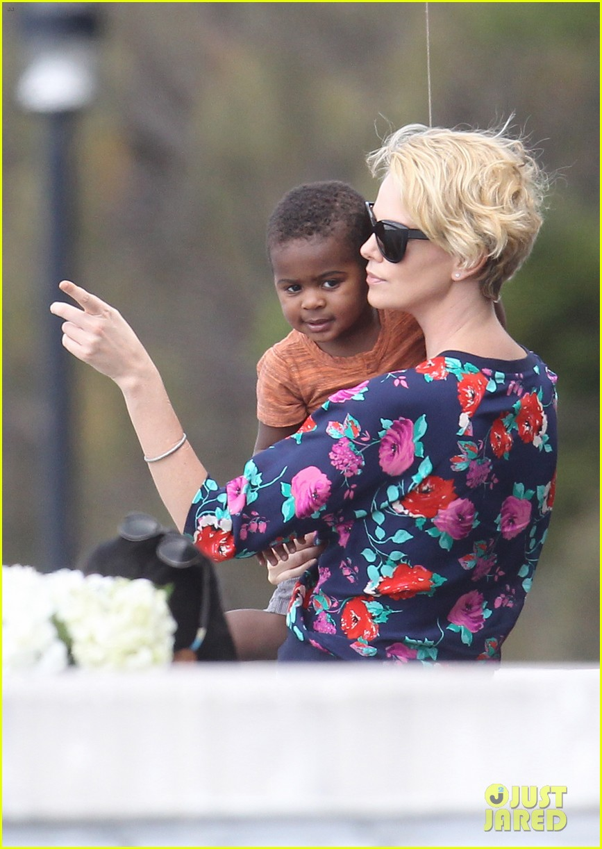 charlize theron sydney outing with her little man jackson 072999868