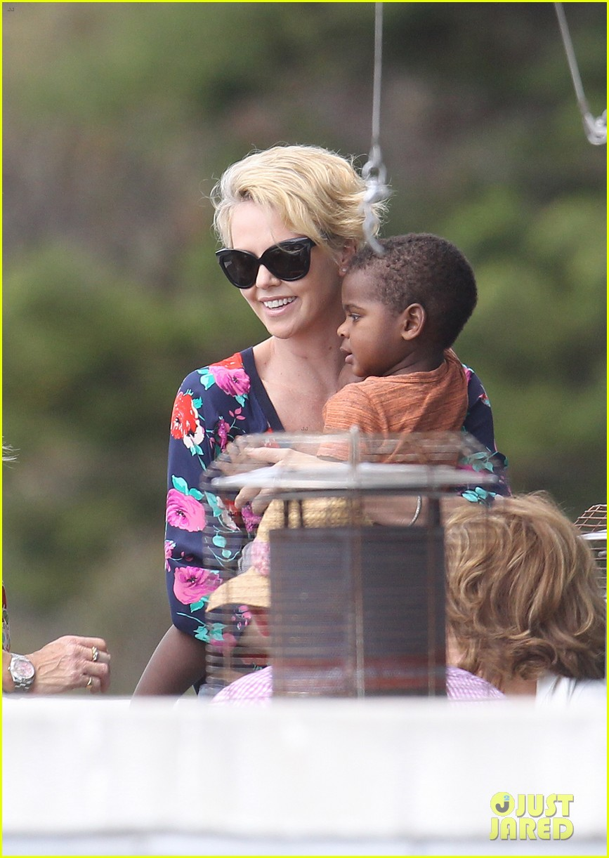 charlize theron sydney outing with her little man jackson 082999869