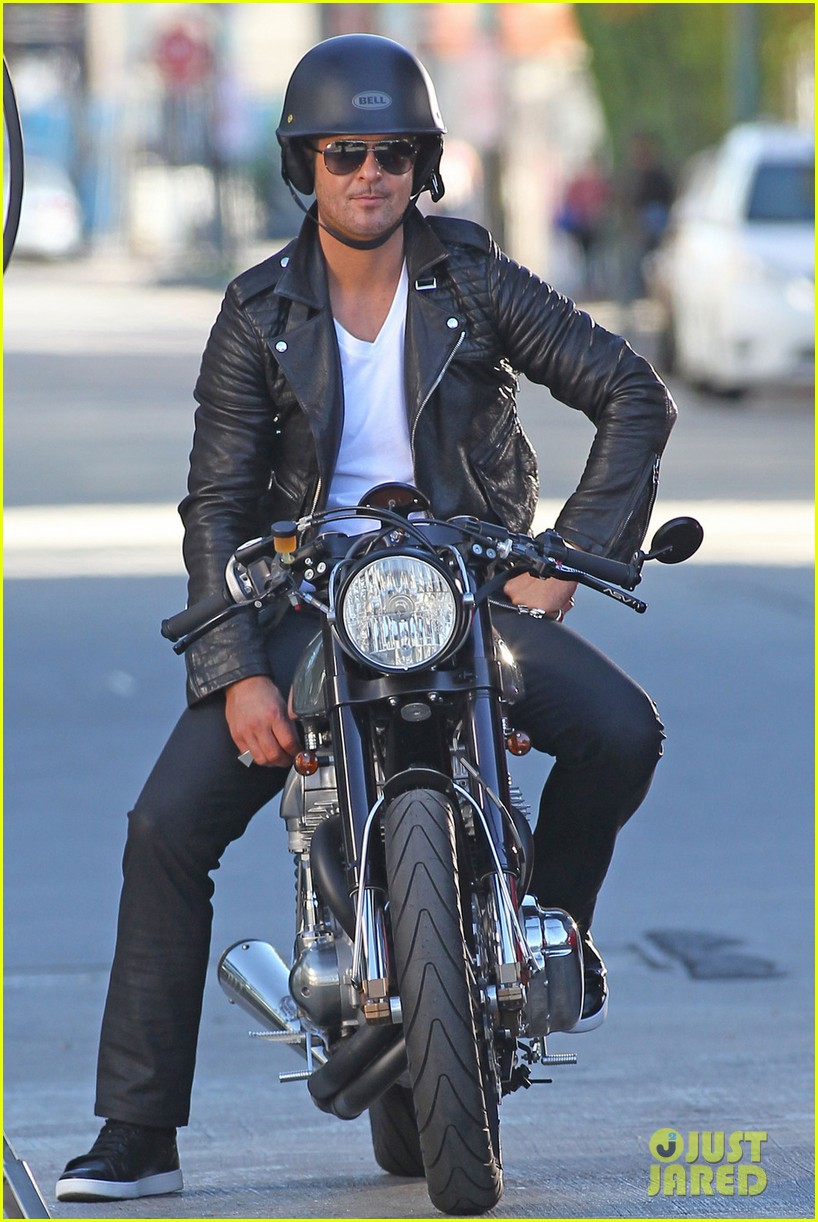 robin thicke biker boy for new music video shoot 082993079