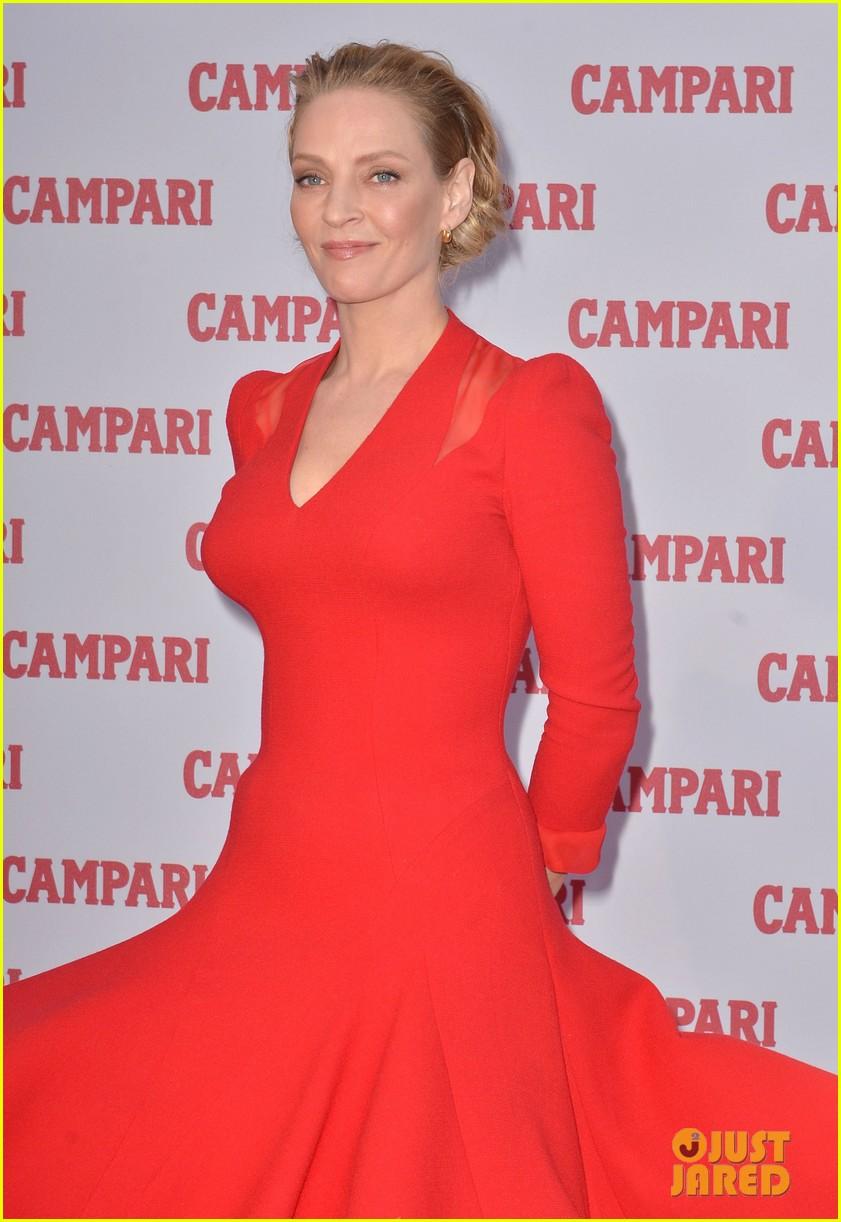 Full Sized Photo of uma thurman is red hot for campari calendar photo ...