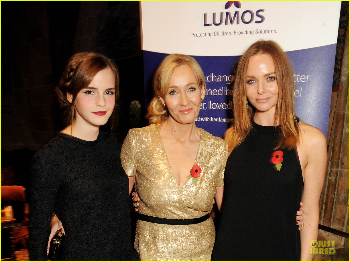 emma watson harry potter reunion with jk rowling 022989213