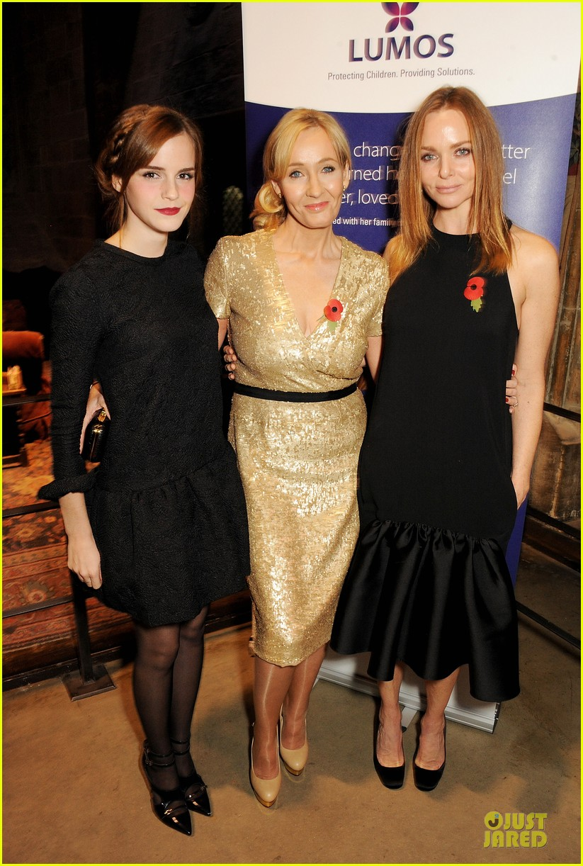 emma watson harry potter reunion with jk rowling 032989214