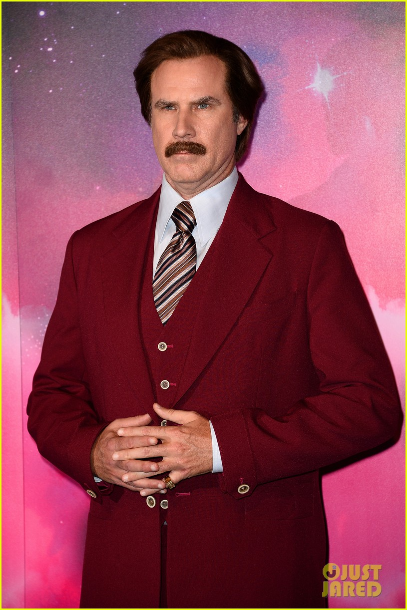 will ferrell as ron burgundy mtv ema 2013 red carpet 032989763