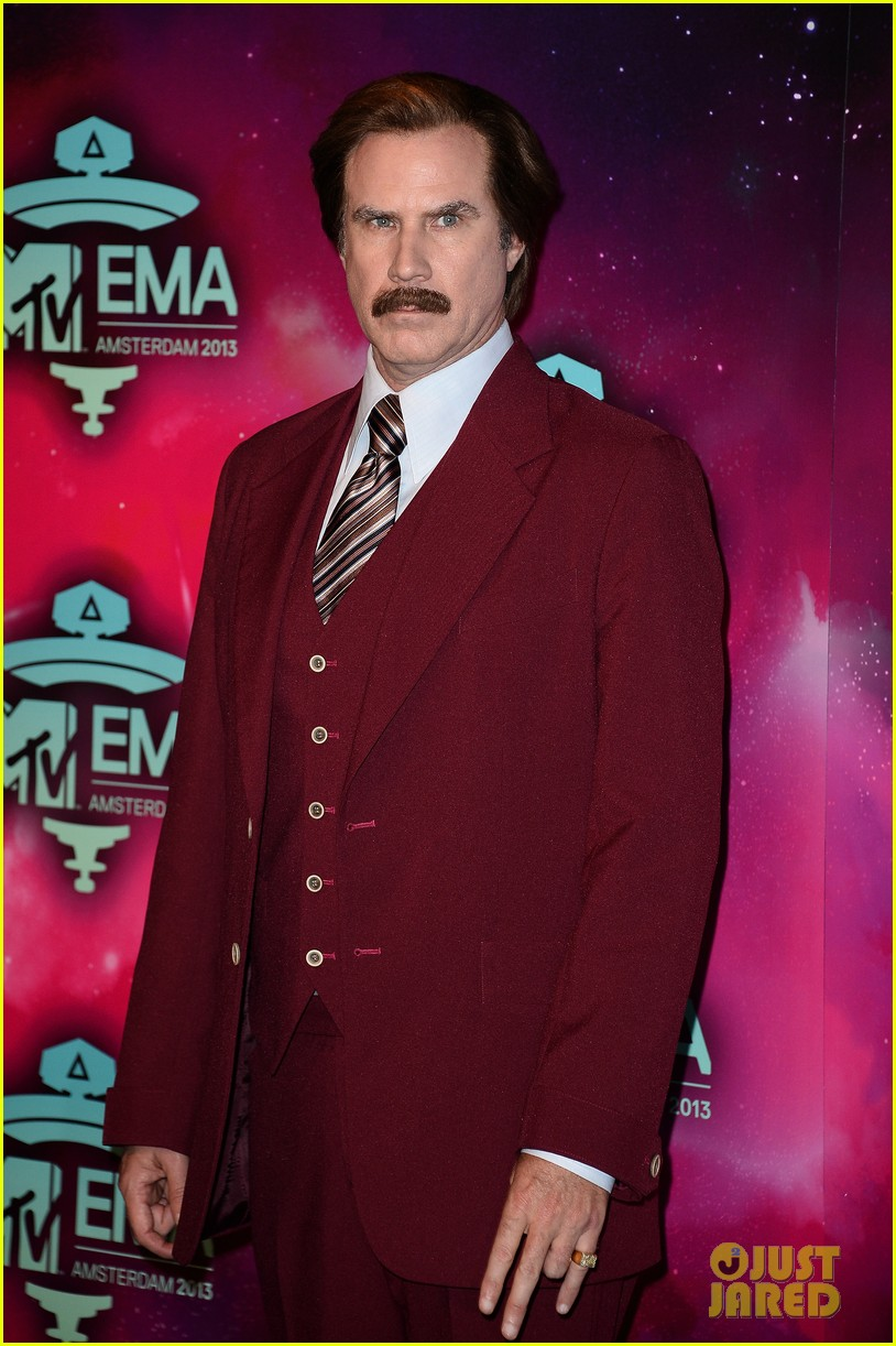 will ferrell as ron burgundy mtv ema 2013 red carpet 052989765