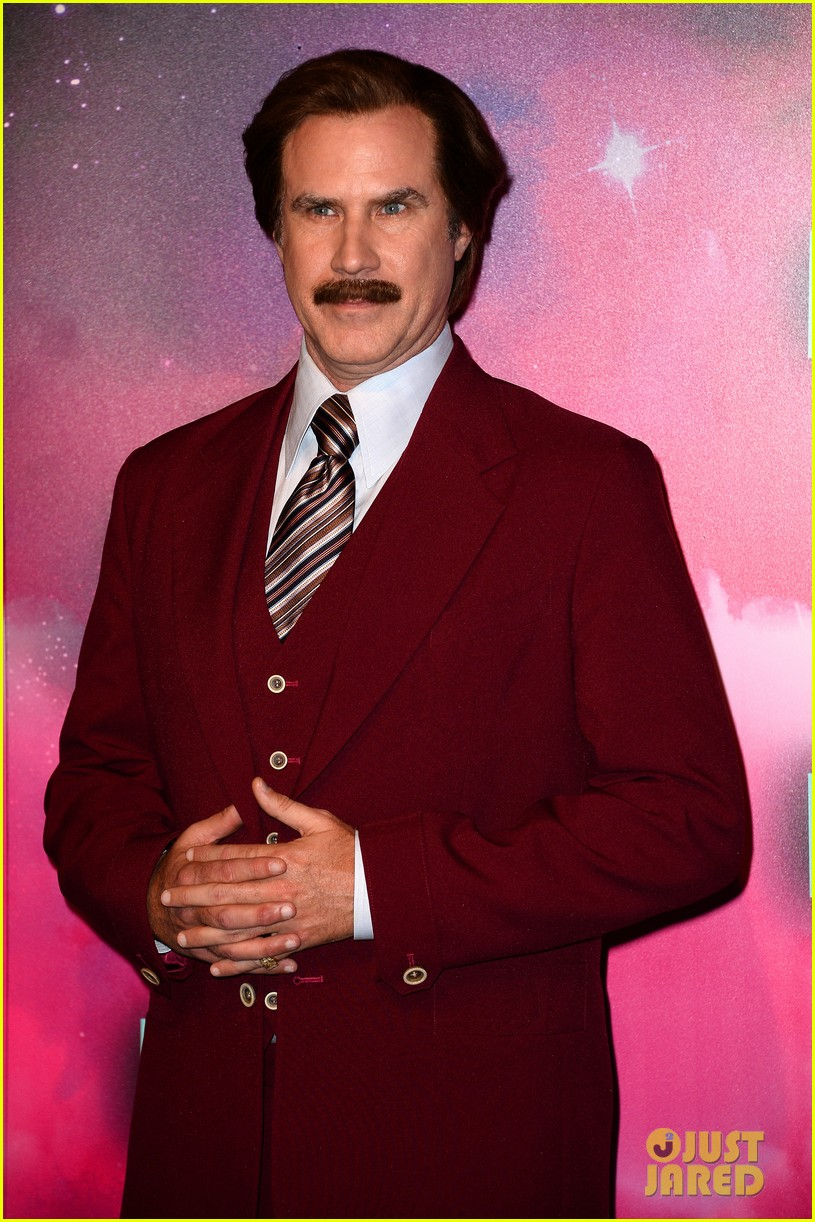will ferrell as ron burgundy mtv ema 2013 red carpet 072989767