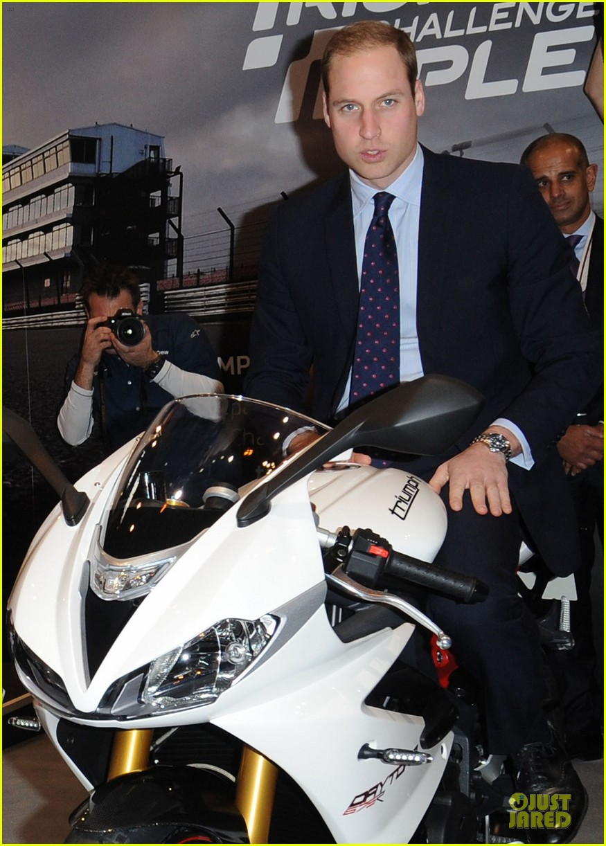prince william receives gift at motorcycle live show 023002475