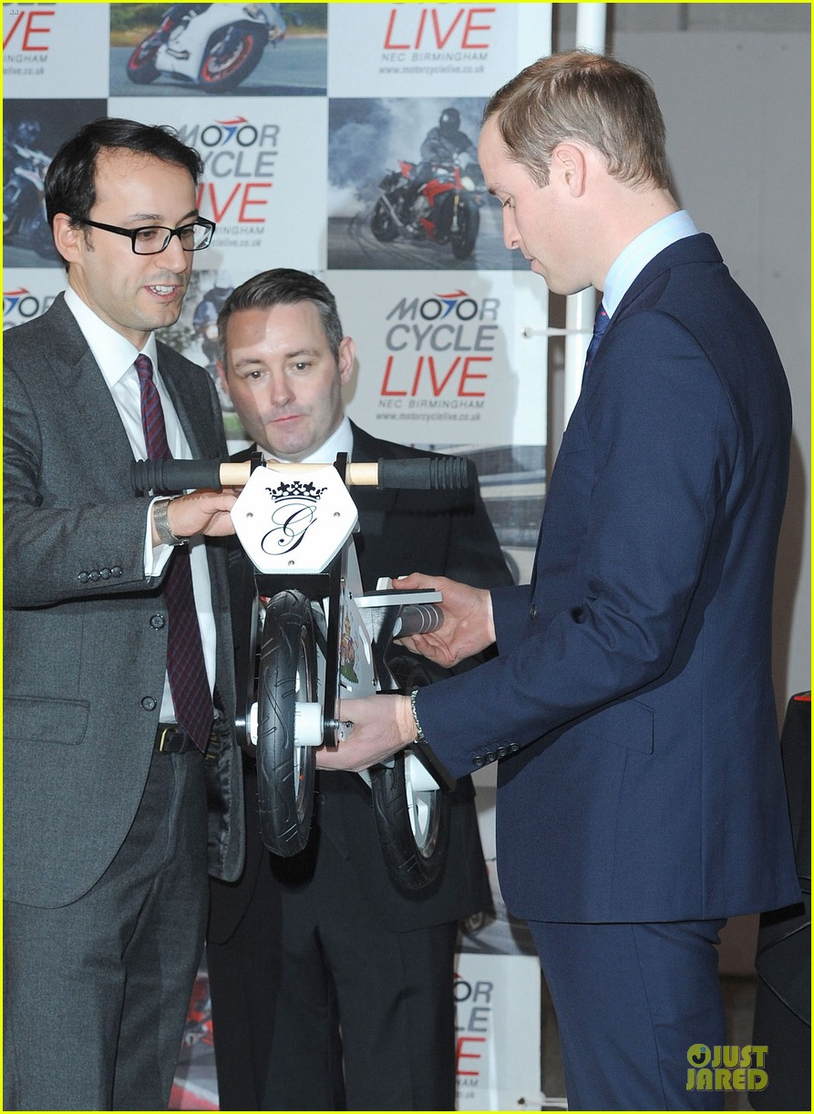 prince william receives gift at motorcycle live show 173002490