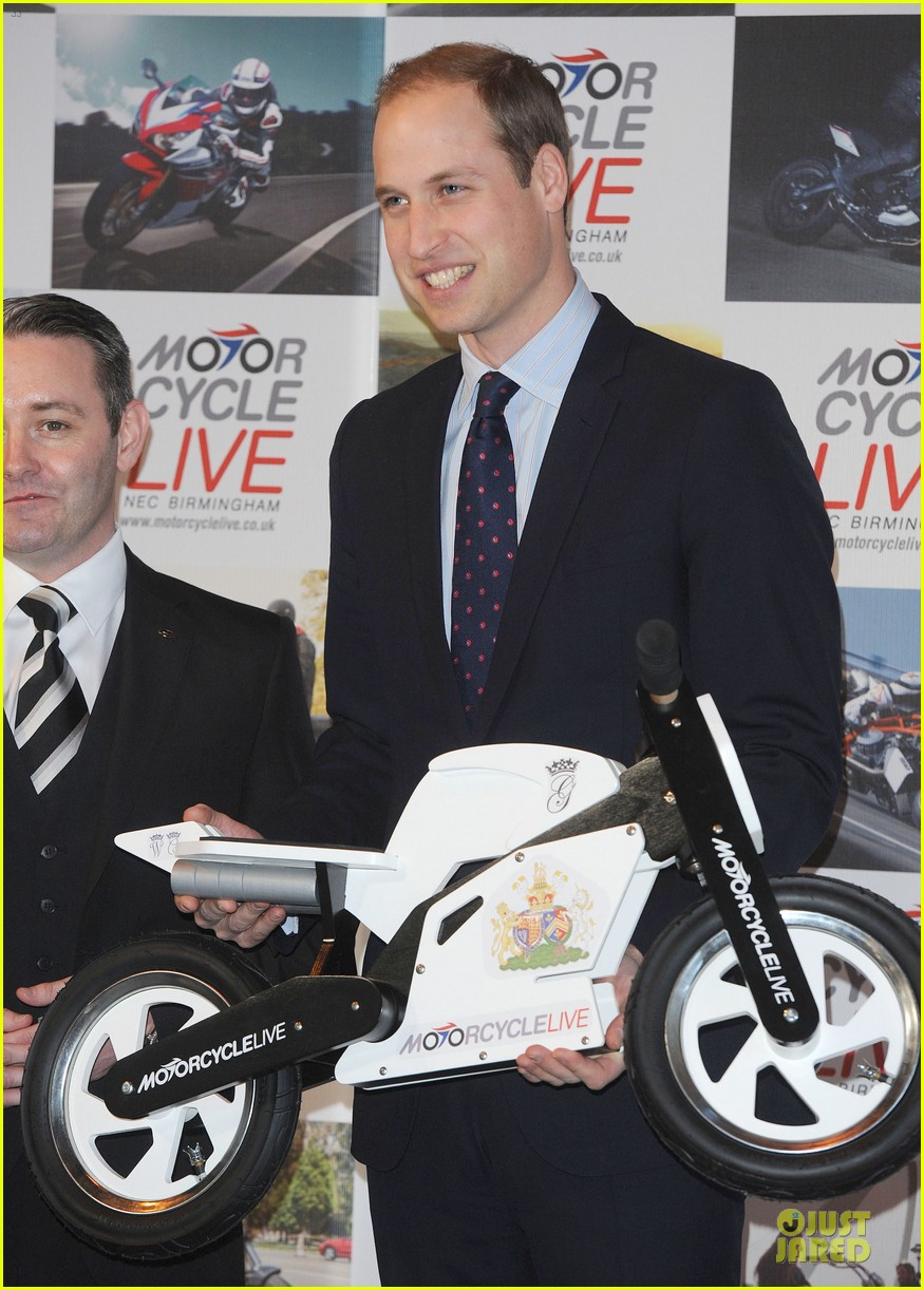 prince william receives gift at motorcycle live show 183002491