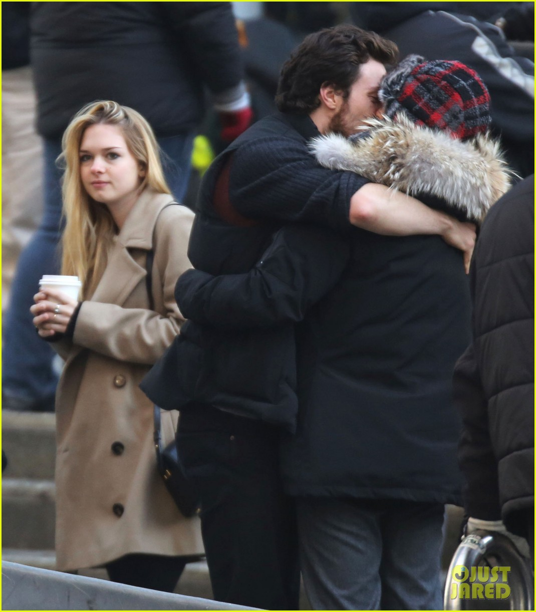 Aaron Taylor-Johnson Visits Wife/Director Sam on 'Fifty ...