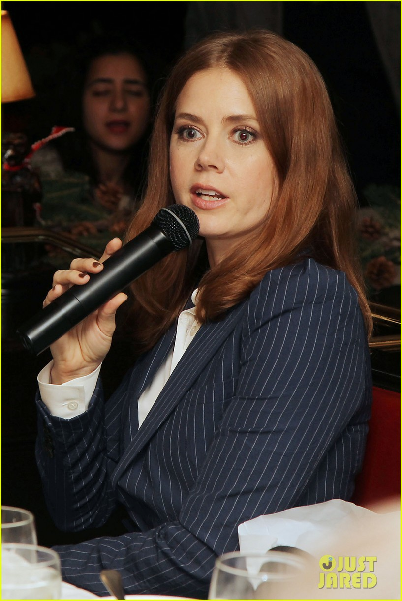 amy adams rocks pinstriped pantsuit at her luncheon 103009174