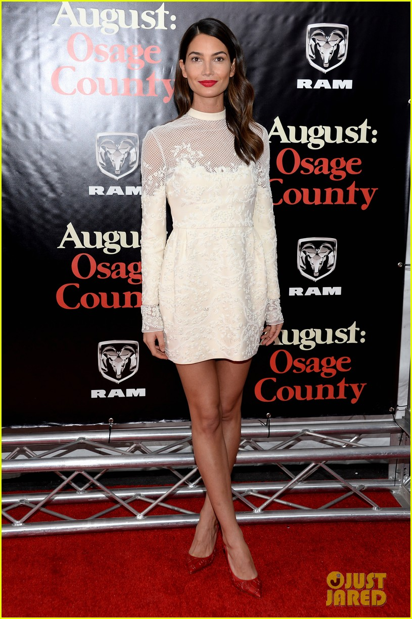 lily aldridge caleb followill august osage county premiere 053010933