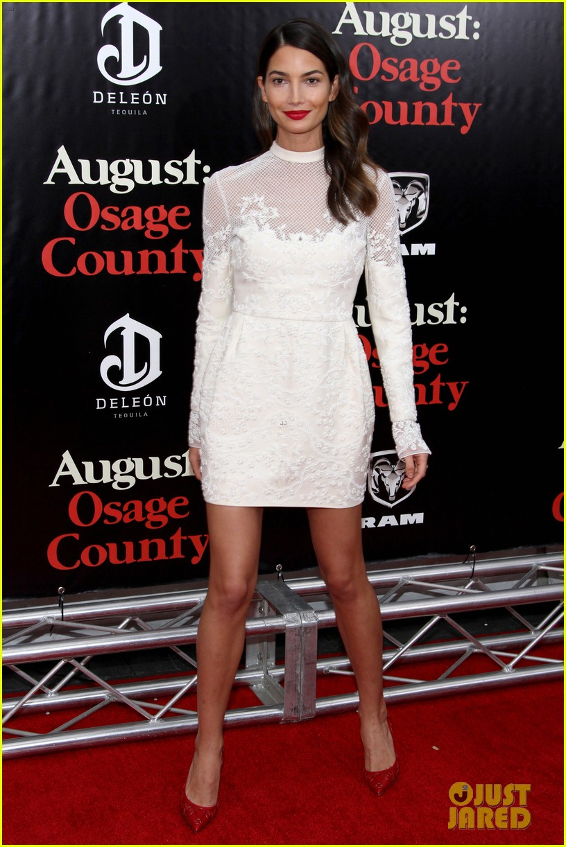 lily aldridge caleb followill august osage county premiere 103010938
