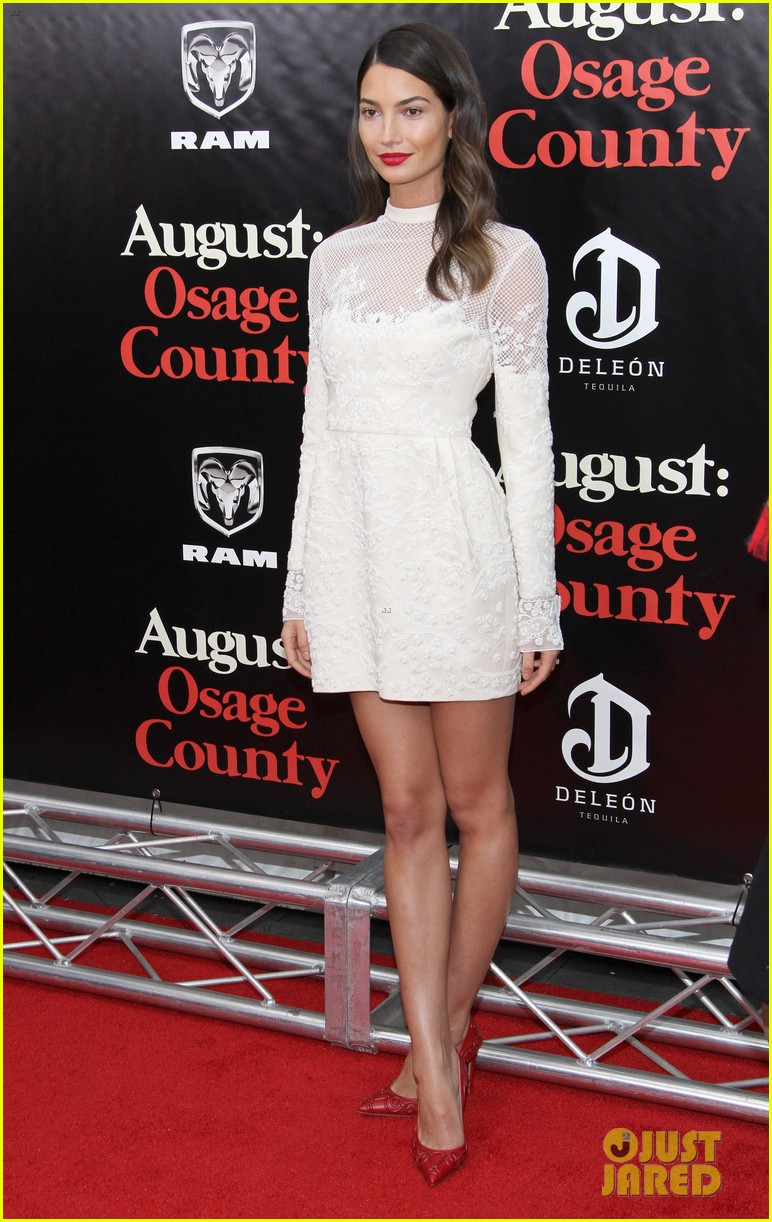 lily aldridge caleb followill august osage county premiere 123010940