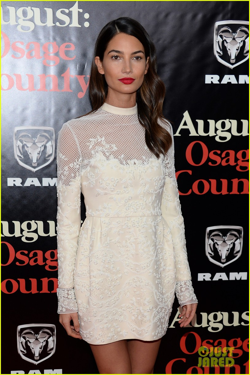 lily aldridge caleb followill august osage county premiere 233010951