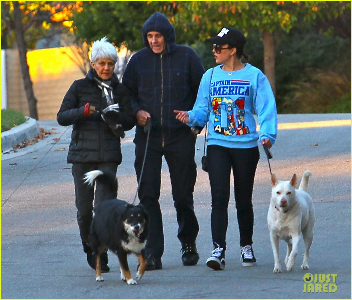 amanda bynes saturday stroll with parents pups 01